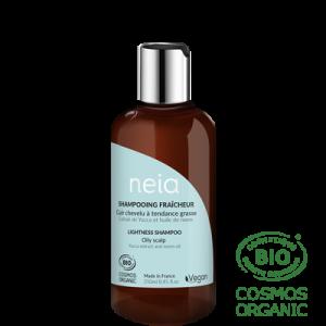 Shampoing Neia fraicheur cuir chevelu à tendance grasse.
