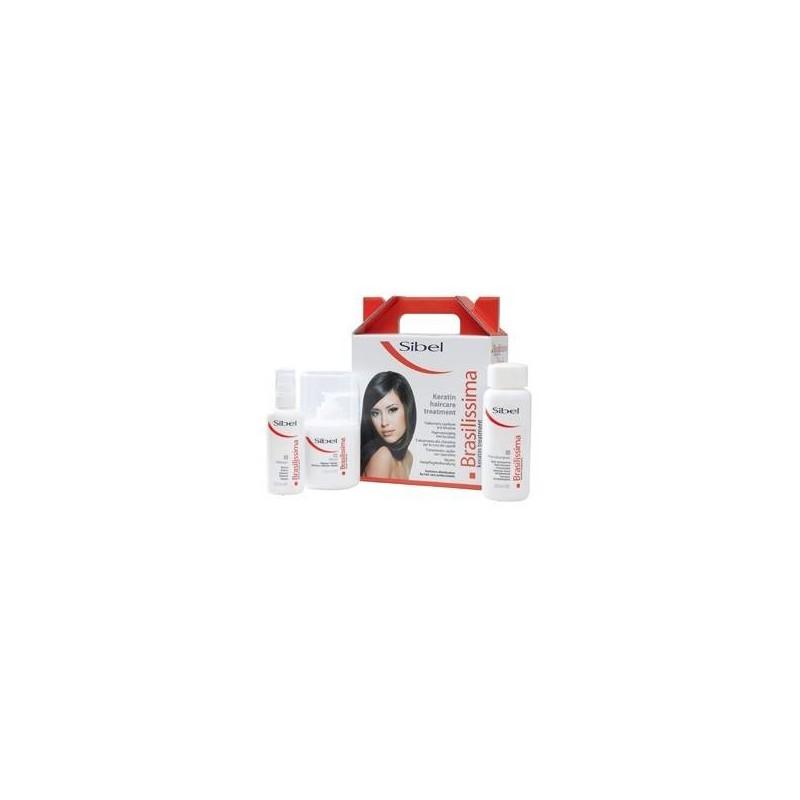 Brasilissima - Kit keratin 3p (après-shampoing+masque+baume)