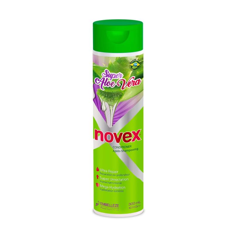 Après-Shampoing Super Aloe Vera Novex 300ml - Hydratation et Réparation