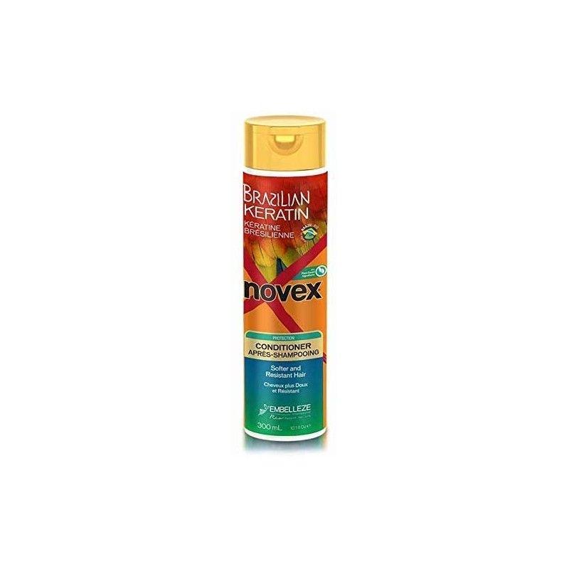 Après-Shampooing à la kératine Brésilienne Novex 300ml - Brillance et Douceur