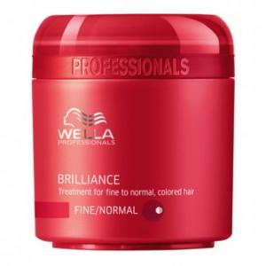 Masque Brilliance Wella cheveux colorés, fins à normaux 150ml